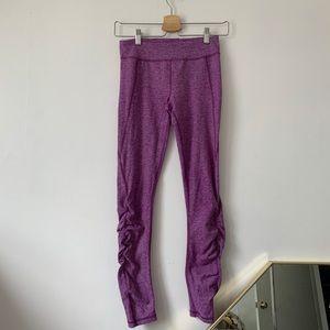 Ivivva ruched purple full length leggings
